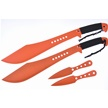 CCN-58189 TIGER MACHETTE COMBO (4PCS) [Tiger USA • Fixed Blades & Hunters • Machete]