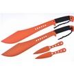 CCN-58189 TIGER MACHETTE COMBO (4PCS) [Tiger USA • Fixed Blades & Hunters • Machete]