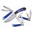 CCN-58227 DAKOTA BLUE COLLECTION (4PCS) [Assorted • Fixed Blades & Hunters]