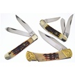 CCN-58228 ROCKY MTN STAG TRIO (3PCS) [Whitetail Cutlery • Pocket Knives]