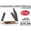 CCN-58267 CASE EARLY BIRD (1PC) [Case • Pocket Knives • Premium Knives]