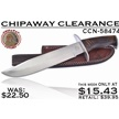 CCN-58474 CHIPAWAY CLEARANCE (1PC) [Chipaway Cutlery • Fixed Blades & Hunters • Bowies]