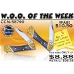 CCN-58790 WOO OF THE WEEK (2PCS) [Frost Cutlery • Pocket Knives]