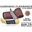 CCN-58807 CHIPAWAY CLEARANCE (1PC) [Chipaway Cutlery • Pocket Knives • Lockback]