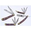 CCN-58930 RUDOLPH'S RED ABALONE CMAS (4PCS [Cherokee Stoneworks • Pocket Knives]