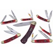 CCN-58971 OCOEE RVR CHRISTMAS REDS (7PCS) [Ocoee River Cutlery • Pocket Knives]