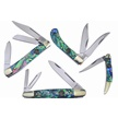 CCN-58978 ALL NEW ABALONE ROOSTERS (4PCS) [Crowing Rooster • Pocket Knives]