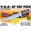 CCN-59048 WOO OF THE WEEK (1PC) [Crowing Rooster • Fixed Blades & Hunters • Bowies]