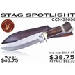 CCN-59050 STAG SPOTLIGHT (1PC) [Whitetail Cutlery • Fixed Blades & Hunters • Bowies]