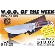 CCN-59189 WOO OF THE WEEK (1PC) [Crowing Rooster • Fixed Blades & Hunters • Bowies]