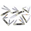 CCN-59210 STAG BONE WARRIORS (7PCS) [Steel Warrior • Pocket Knives]