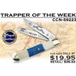 CCN-59223 TRAPPER OF THE WEEK (1PC) [Frost Cutlery • Pocket Knives • Masonic]