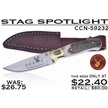 CCN-59232 STAG SPOTLIGHT (1PC) [Whitetail Cutlery • Fixed Blades & Hunters • Skinning Knives]