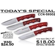 CCN-59302 TODAY'S SPECIAL (4PCS) [Sharps Cutlery • Fixed Blades & Hunters • Hunting Knives]