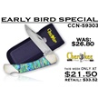 CCN-59303 EARLY BIRD (1PC) [Cherokee Stoneworks • Pocket Knives]