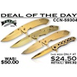 CCN-59304 DEAL OF THE DAY (4PCS) [Assorted • Tacticals & Folders]