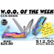 CCN-59305 WOO OF THE WEEK (2PCS) [Frost Cutlery • Pocket Knives • Multi-Tools]