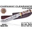 CCN-59306 CHIPAWAY CLEARANCE (1PC) [Chipaway Cutlery • Fixed Blades & Hunters • Bowies]