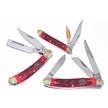 CCN-59393 RED JIGBONE FAVORITES (3PCS) [Ocoee River Cutlery • Pocket Knives]