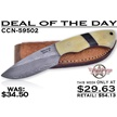 CCN-59502 VALLEY FORGE DAMASCUS DEAL (1PC) [Valley Forge • Fixed Blades & Hunters • Hunting Knives]