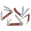 CCN-59532 CROWING ROOSTER WHISKY RVR (4PC) [Crowing Rooster • Pocket Knives]
