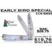 CCN-59559 EARLY BIRD SPECIAL (1PC) [Steel Warrior • Pocket Knives]