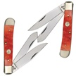 "CCN-FD0086 4.25"" RED PB BIG GAME TRPR (1PC) [Frost Cutlery • Pocket Knives]"