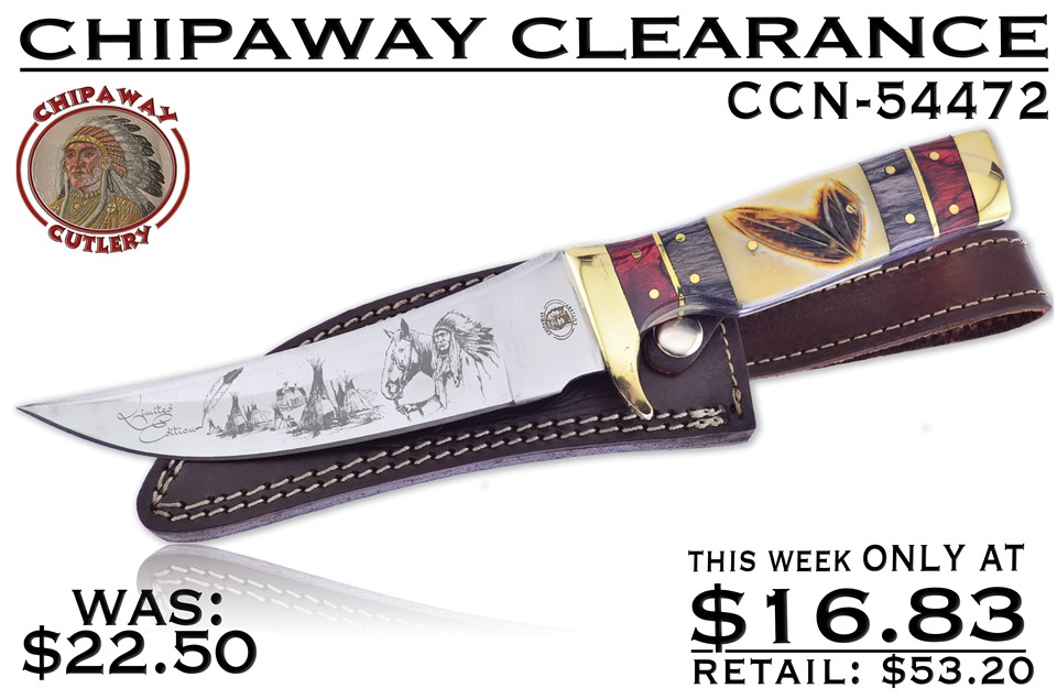 CCN-54472 CHIPAWAY CLEARANCE (1PC) [Chipaway Cutlery • Fixed Blades & Hunters • Bowies]