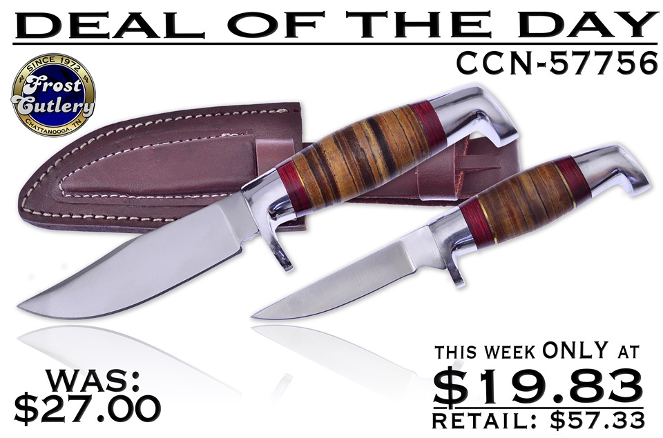 CCN-57756 DEAL OF THE DAY (2PCS) [Frost Cutlery • Fixed Blades & Hunters • Hunting Knives]