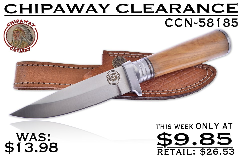 CCN-58185 CHIPAWAY CLEARANCE (1PC) [Chipaway Cutlery • Fixed Blades & Hunters • Bowies]