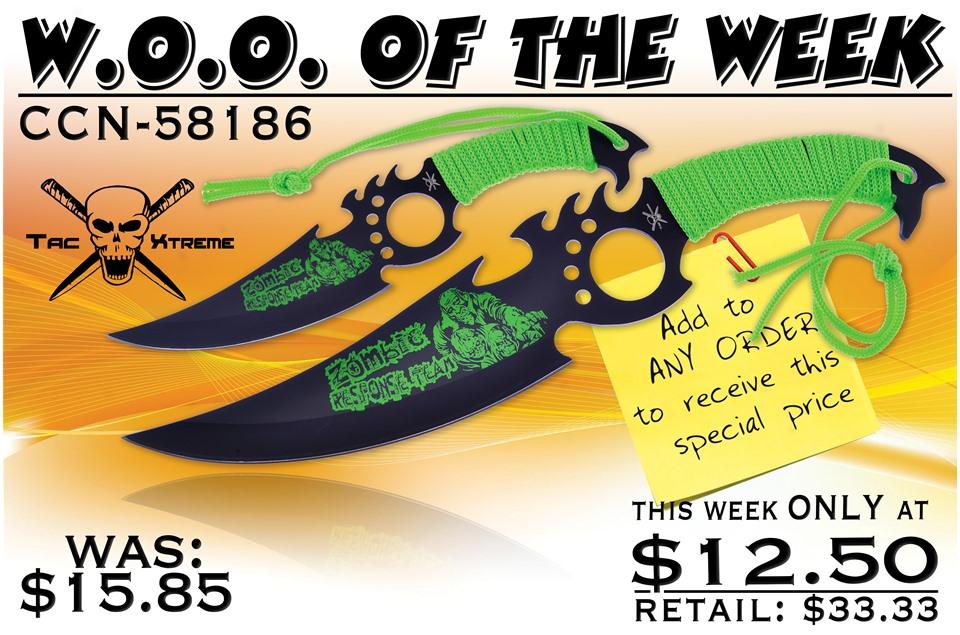 CCN-58186 WOO OF THE WEEK (2PCS) [Tac Xtreme • Fantasy • Daggers]