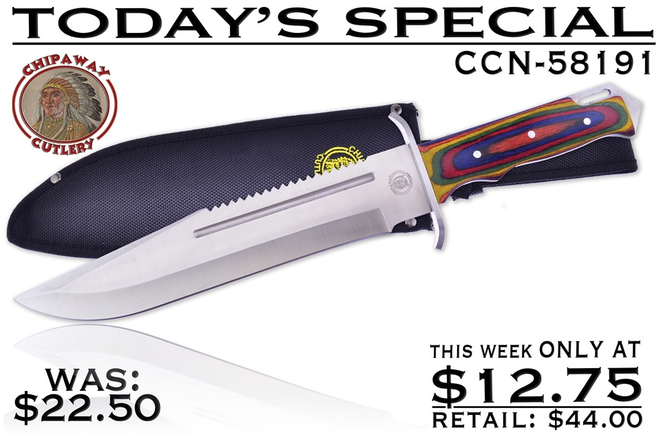 CCN-58191 TODAY'S SPECIAL (1PC) [Chipaway Cutlery • Fixed Blades & Hunters • Bowies]