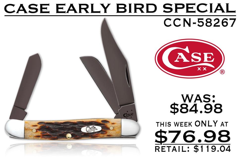 CCN-58267 CASE EARLY BIRD (1PC) [Case • Pocket Knives • Premium Knives]