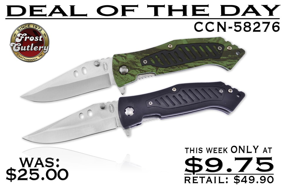 CCN-58276 DEAL OF THE DAY (2PCS) [Frost Cutlery • Tacticals & Folders]