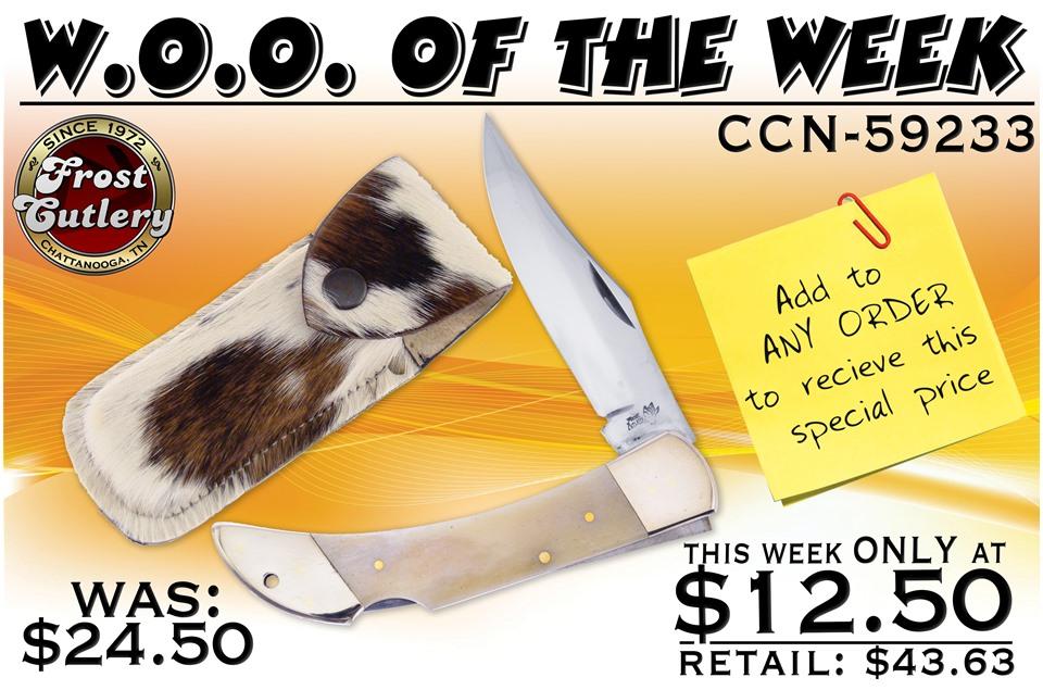 CCN-59233 Woo Of The Week  [Frost Cutlery • Pocket Knives • Lockback]