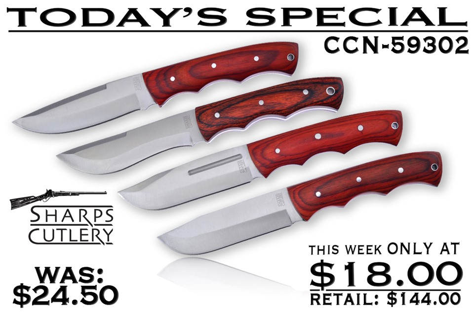 CCN-59302 Today's Special  [Sharps Cutlery • Fixed Blades & Hunters • Hunting Knives]