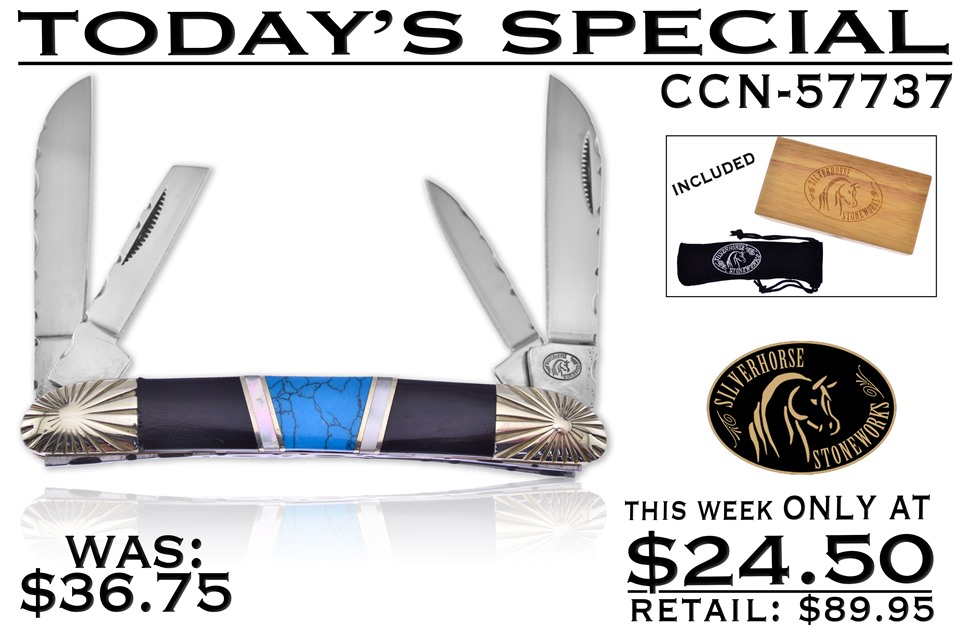 CCN-57737 TODAY'S SPECIAL (1PC) [Silverhorse Stoneworks · Pocket Knives]
