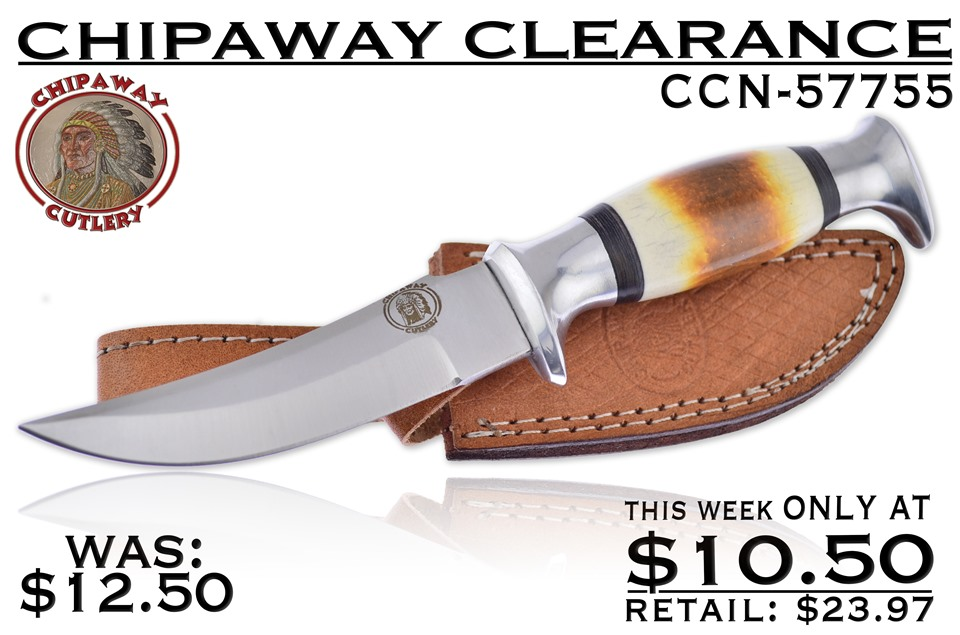 CCN-57755 CHIPAWAY CLEARANCE (1PC) [Chipaway Cutlery · Fixed Blades & Hunters · Bowies]